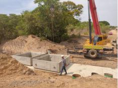 Construção do bueiro